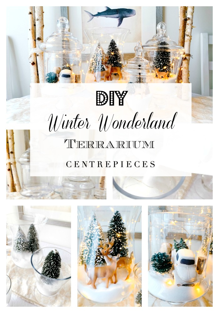 WINTER WONDERLAND TERRARIUM CENTREPIECES