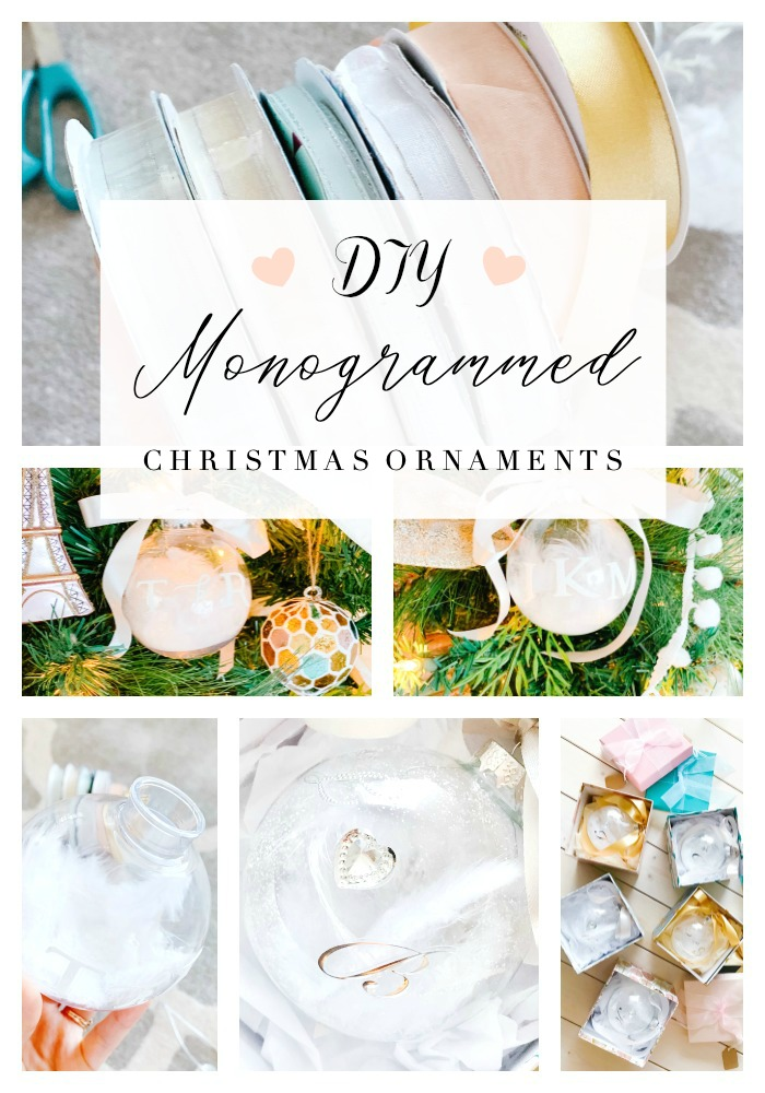 MONOGRAMMED CHRISTMAS ORNAMENT TUTORIAL