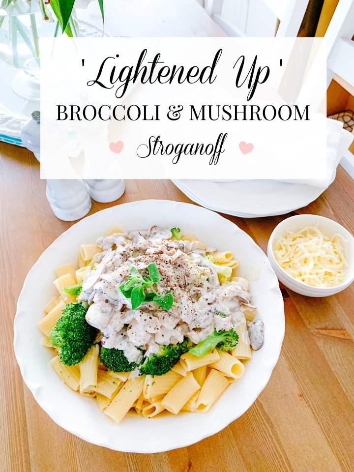 LIGHTENED UP BROCCOLI & MUSHROOM STROGANOFF