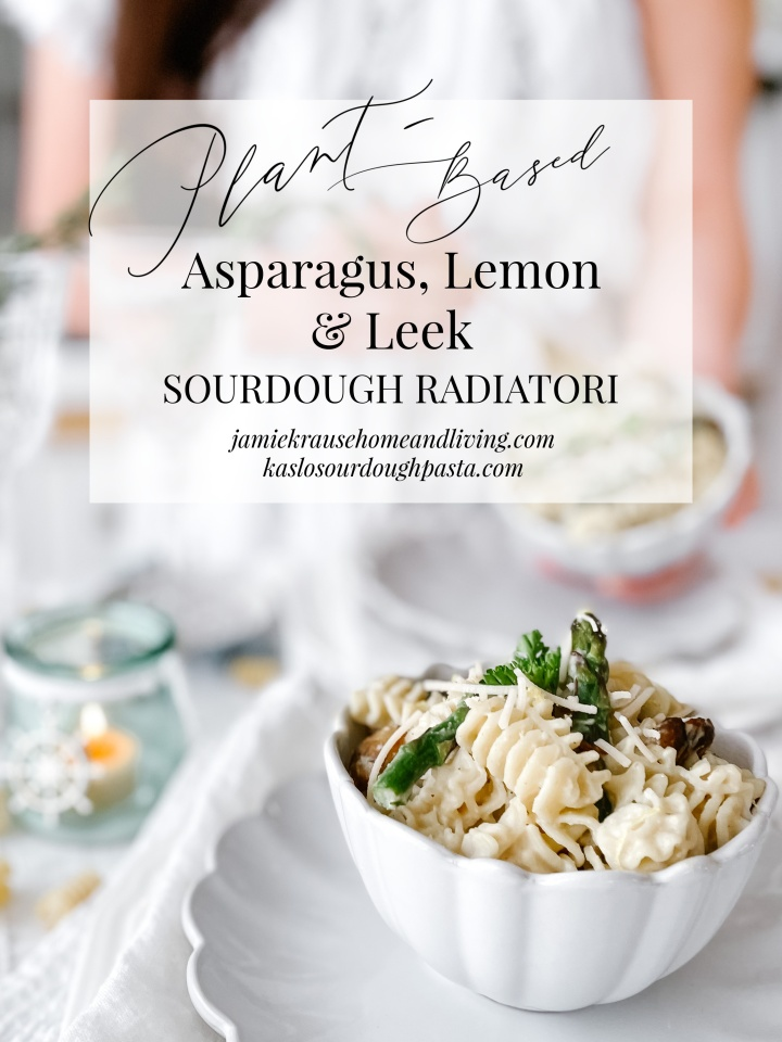 PLANT-BASED ASPARAGUS, LEMON & LEEK SOURDOUGHRADIATORI
